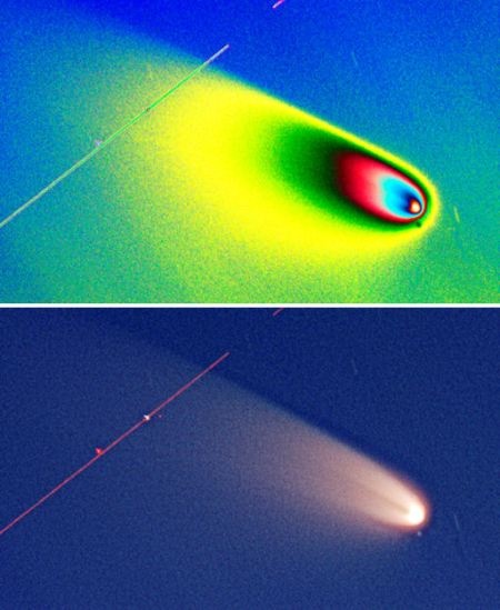 is comet pan-starrs fragmenting ahead of it's path - How